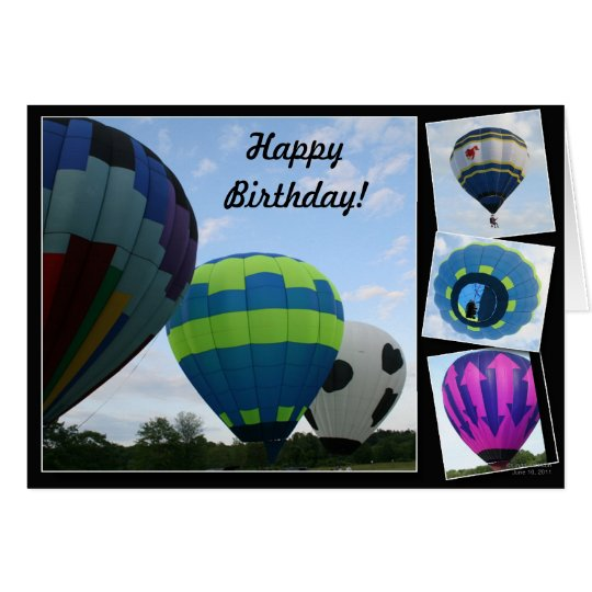 Balloons!  Collage! Card