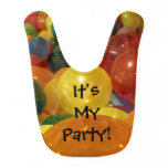Balloons Colorful Birthday (or Other) Party Bib