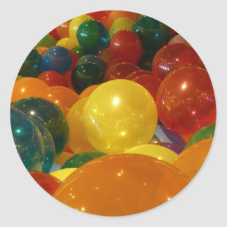 Balloons Colorful Party Design Classic Round Sticker