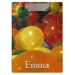 Balloons Colorful Party Design Clipboard