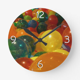 Balloons Colorful Party Design Round Clock
