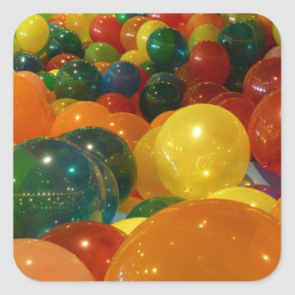 Balloons Colorful Party Design Square Sticker