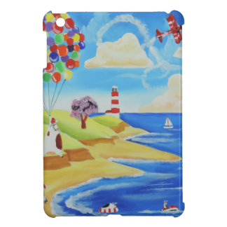 Balloons cows and sheep at the beach cover for the iPad mini