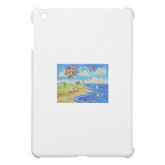 Balloons cows and sheep at the beach iPad mini cover