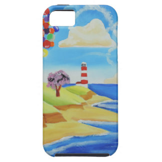 Balloons cows and sheep at the beach iPhone SE/5/5s case