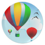 Balloons, decorative plate