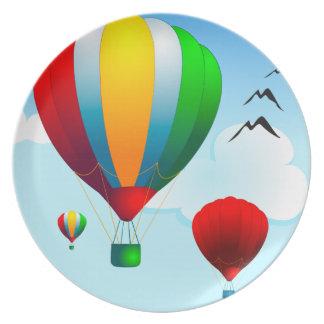 Balloons, decorative plate