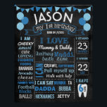"Balloons first birthday chalkboard sign<br><div class=""desc"">Chalkboard sign</div>"