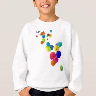 balloons floating upwards sweatshirt