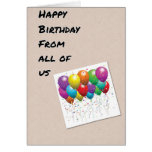 BALLOONS FOR YOU HAPPY BIRTHDAY FROM ALL OF US GREETING CARD