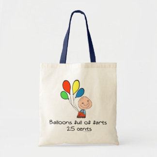 Balloons full of farts tote bag