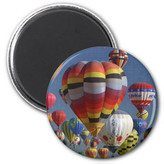 BALLOONS HANGING by SHARON SHARPE 2 Inch Round Magnet