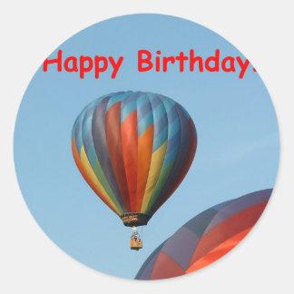 Balloons, Happy Birthday, 2 generic Classic Round Sticker