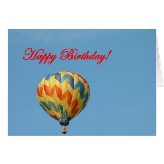 Balloons, Happy Birthday Card