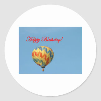 Balloons, Happy Birthday Classic Round Sticker
