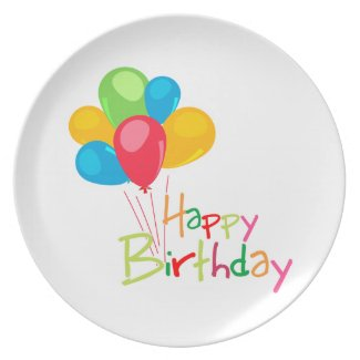 Balloons Happy Birthday Dinner Plates