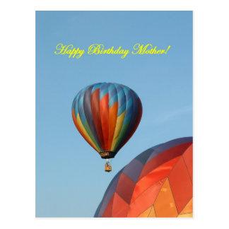Balloons, happy birthday mother! postcard