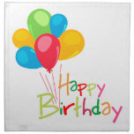 Balloons Happy Birthday Printed Napkin