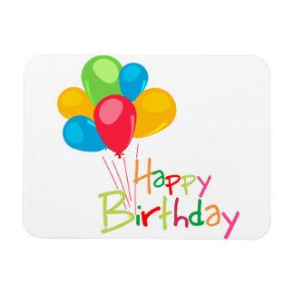 Balloons Happy Birthday Rectangular Photo Magnet