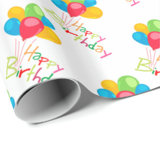 Balloons Happy Birthday Wrapping Paper