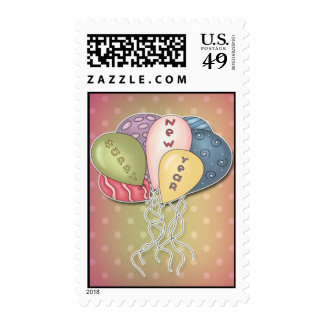 Balloons - Happy New Year Template Stamp