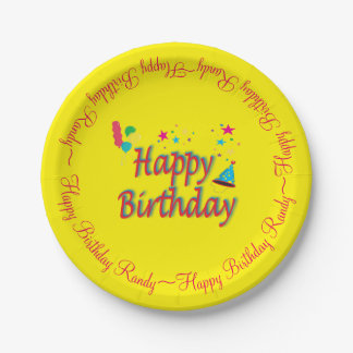 Balloons Hats Sparklers Birthday Surprise Stars Paper Plate