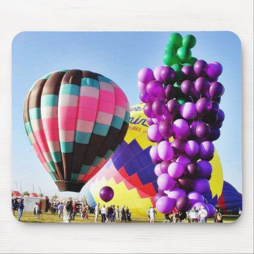 Balloons Hot Air Clusters Mouse Pad