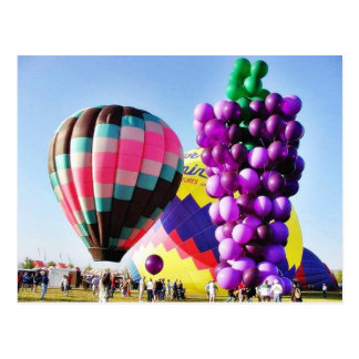 Balloons Hot Air Clusters Postcard
