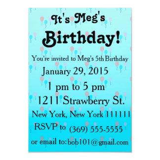 Balloons in Sky Birthday Invitation