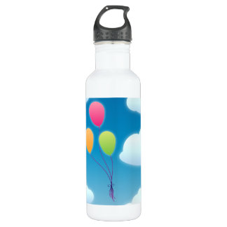 Balloons in the Sky Water Bottle
