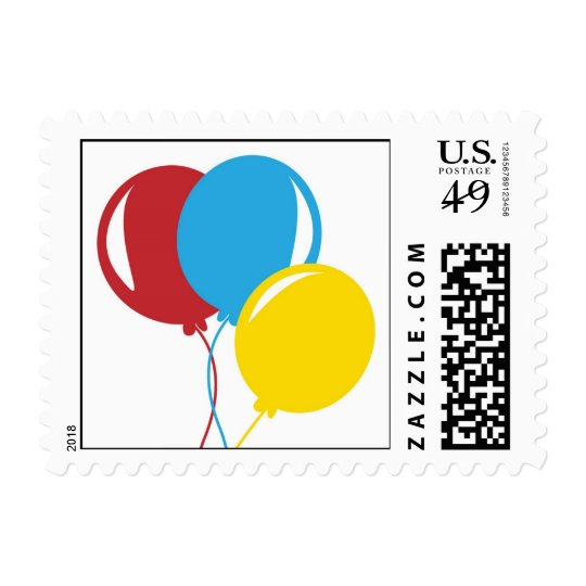 Balloons in Three primary colors Postage