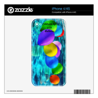 balloons iPhone 4S skin