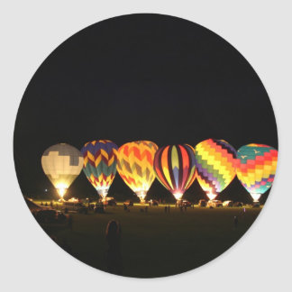 Balloons!  Light up the night, part 2 Classic Round Sticker
