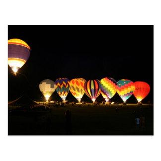 Balloons!  Light up the night, part 2 Postcard