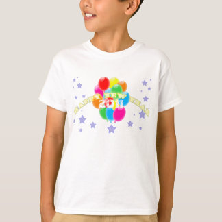 Balloons New Year Kids T-Shirt Template