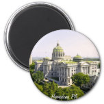 Balloons over Harrisburg PA 2 Inch Round Magnet
