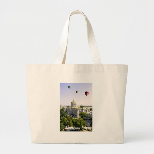 Balloons over Harrisburg PA Large Tote Bag