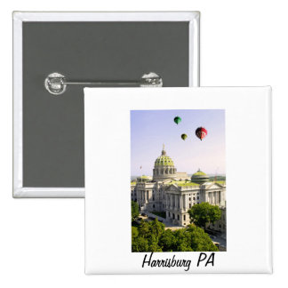 Balloons over Harrisburg PA Pinback Button
