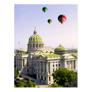 Balloons over Harrisburg PA Postcard