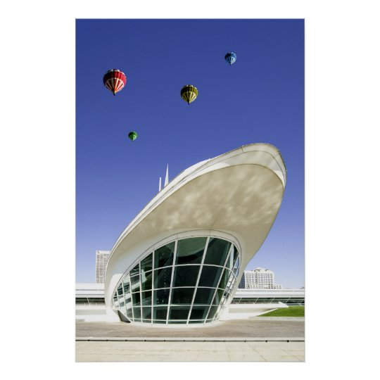 Balloons over Milwaukee WI Poster Print