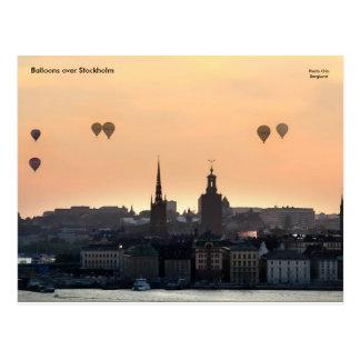 Balloons over Stockholm. Postcard