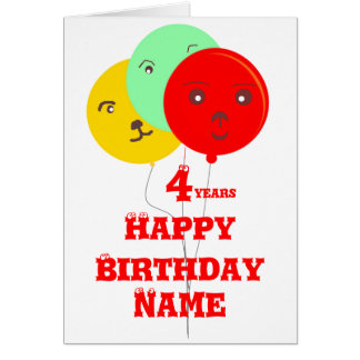 Balloons Party Animal faces add age name cards