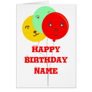 Balloons Party Animal faces cards