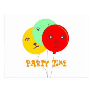 Balloons Party Animal faces cards Post Card
