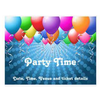 Balloons party flyer