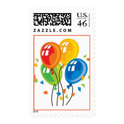 Balloons Party Postage Stamps