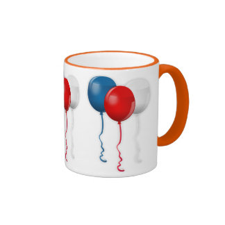 Balloons Party Shower Personalize Thanks Destiny Ringer Coffee Mug