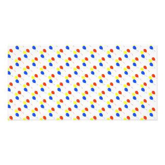 balloons pattern card