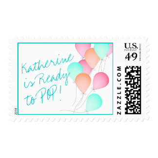 Balloons Ready to Pop Stamp