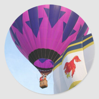 Balloons!  Rooster and Arrows Classic Round Sticker